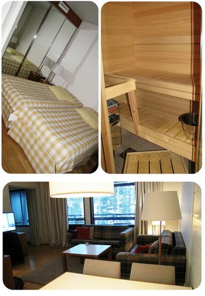sauna makuuhuone huoneisto Kuortane Urheiluopisto