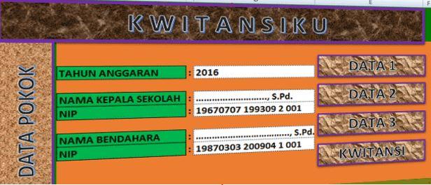 Aplikasi Cetak Kwitansi Laporan SPJ BOS Terbaru 2017 dengan Format Excel