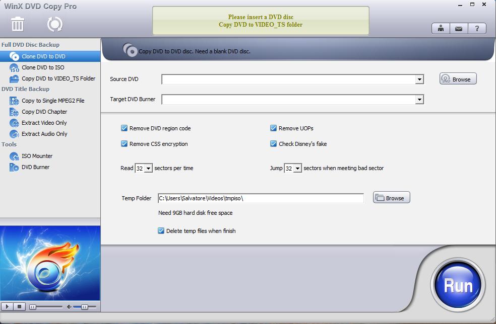 WinX DVD Copy Pro gratis: Copiare e Clonare un DVD