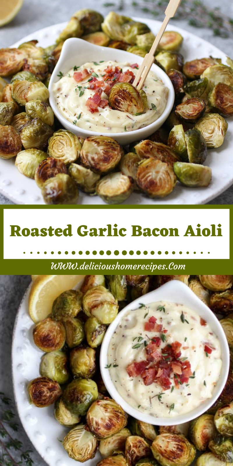 Roasted Garlic Bacon Aioli
