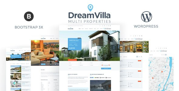 Free Download DreamVilla Real Estate WordPress Theme