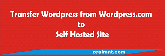 How To Transfer Wordpress From Wordpress.Com Site To Self Hosted Site