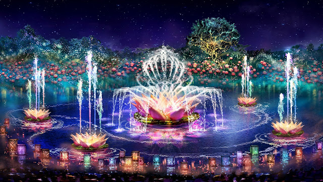 Disney's Animal Kingdom all-new Rivers Of Light waterside show - @Disney Artist rendering