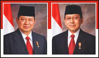 Gambar Presiden Foto Susilo Bambang Yudhoyono dan Boediono