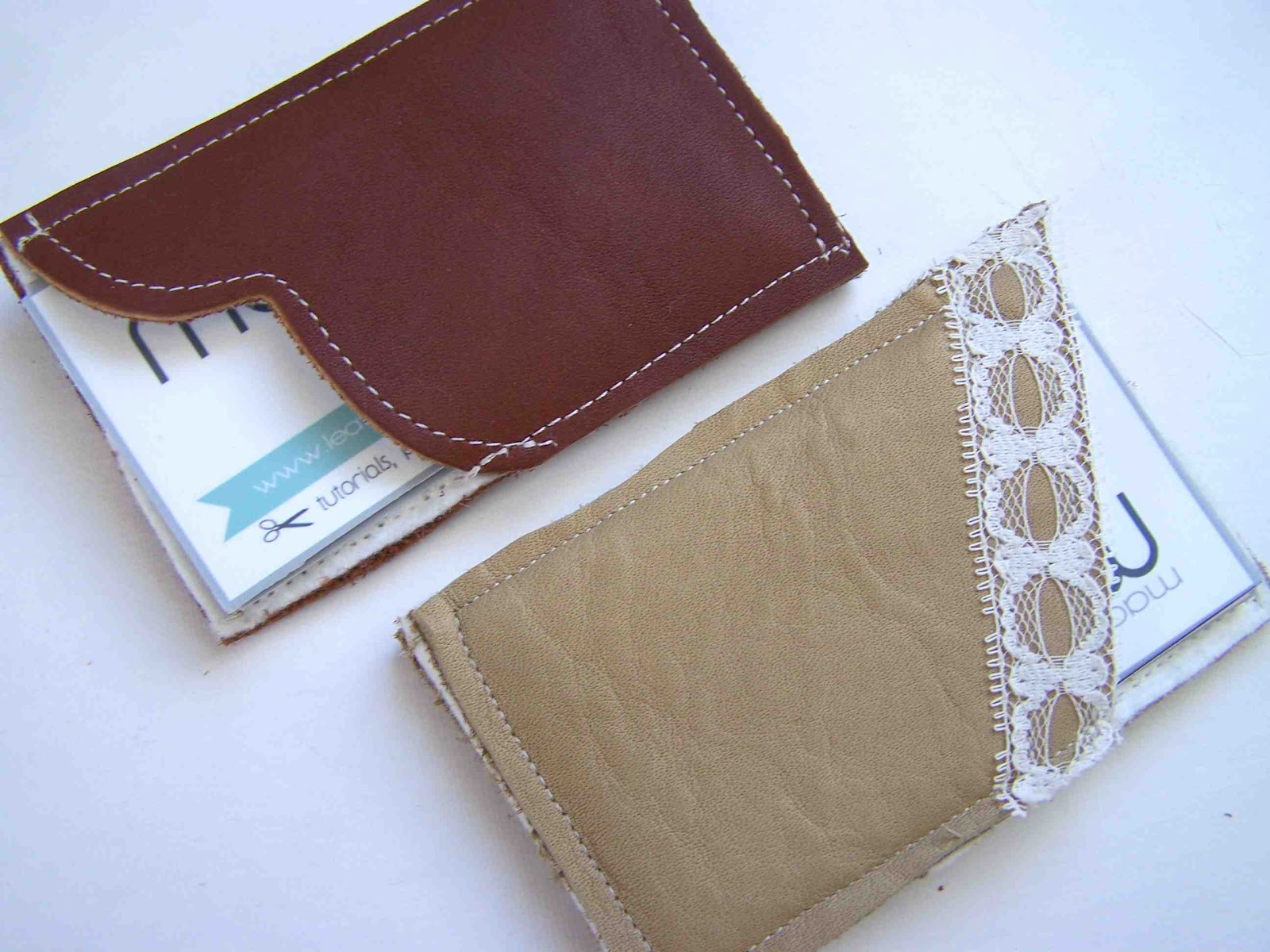 Made by Me Shared with you Leather Business Card Holder Tutorial