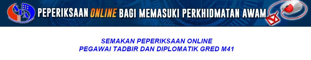 Pegawai Tadbir Dan Diplomatik PTD M41