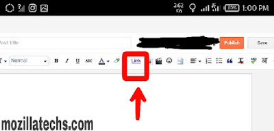 How To Add Customize Link In Blogspot Blog Post
