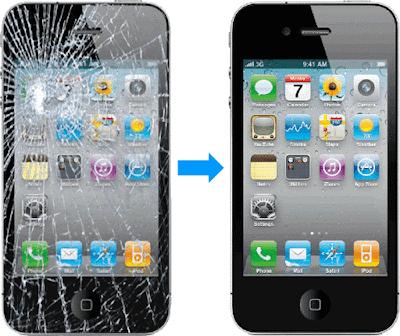 iphone 4 sau khi thay moi