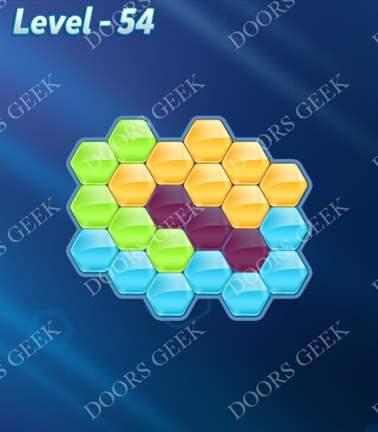 Block! Hexa Puzzle [Rainbow A] Level 54 Solution, Cheats, Walkthrough for android, iphone, ipad, ipod