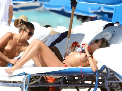 Lauren Stoner Topless Bikini Candid Photos