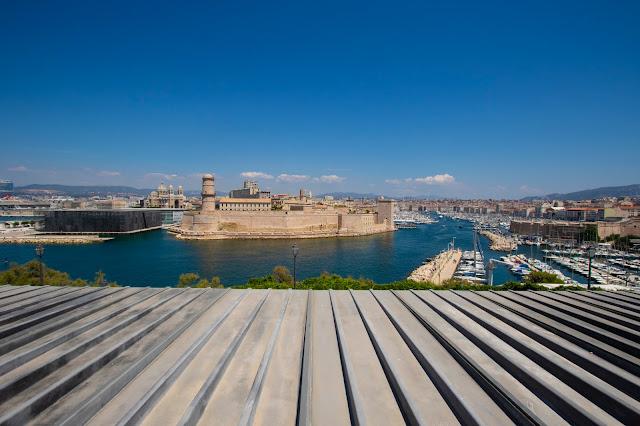 Vista sul porto dal Palais du Pharo-Marsiglia