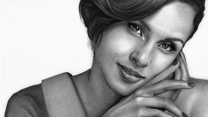 Wallpaper: The Drawn Portrait with Alicia Keys