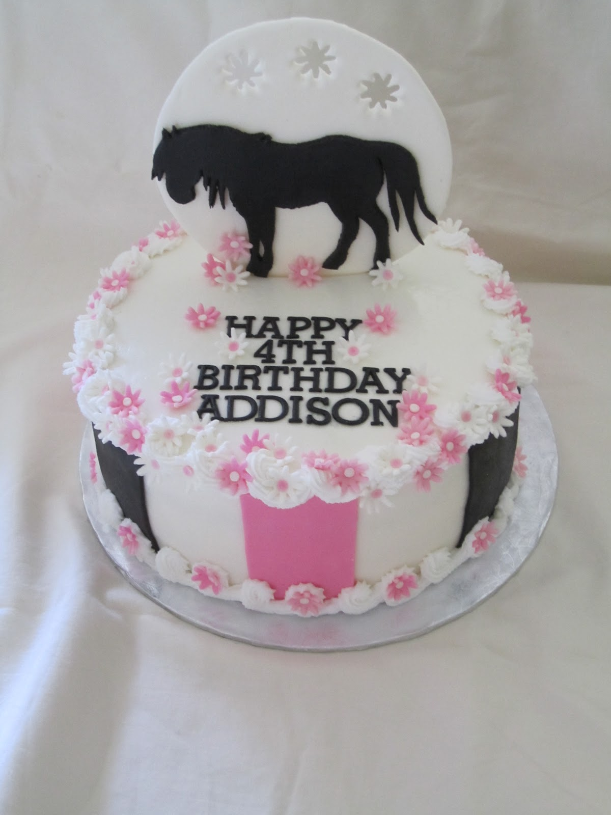 Cakes Or Something Like That Pink And Black Horse Cake