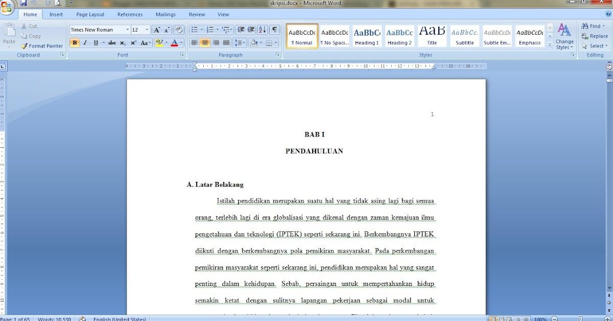 Skripsi S1 Pgsd Kuantitatif Lengkap Sang Pencari Ilmu