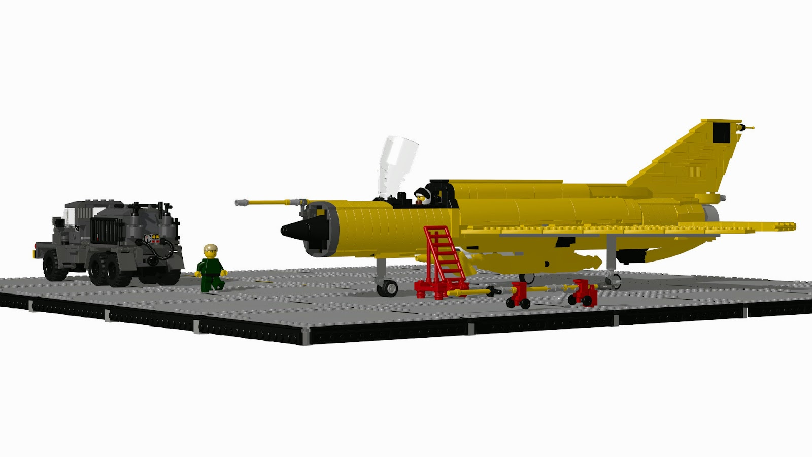 KOCKAGENERCI / LEGO blog : LDD szria: Megplt a MIG-21 ...