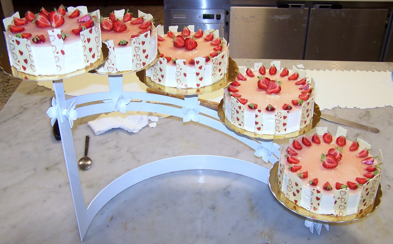 dekoration på bröllopstårta