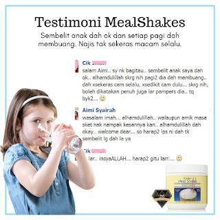 Testimoni MealShakes - Sembelit Anak Pulih