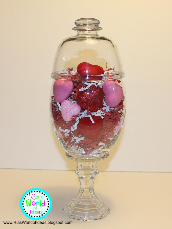 Ria S World Of Ideas Valentine S Day Dollar Tree Apothecary Jars