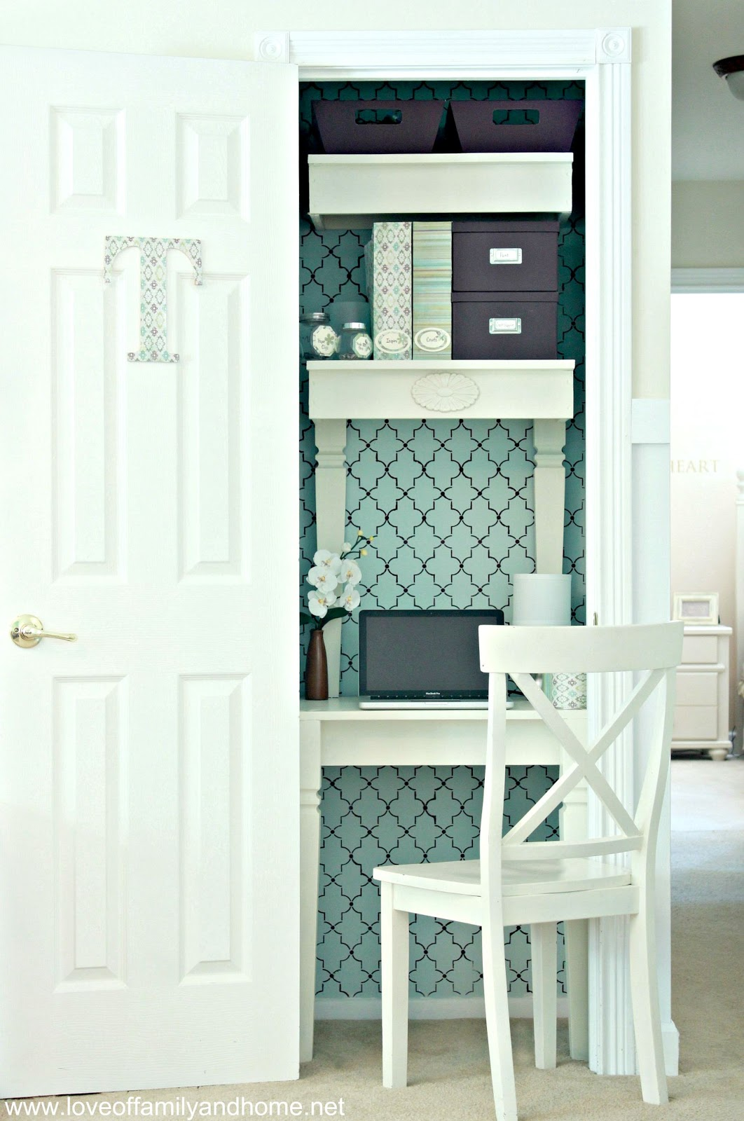Sensational My Closet Turned Home Office Reveal Love Of Family Home Largest Home Design Picture Inspirations Pitcheantrous