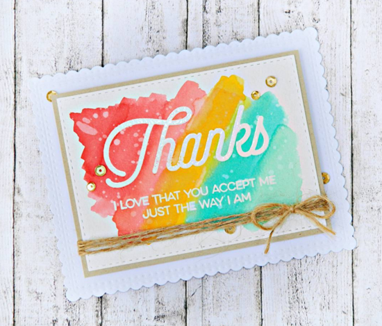 Kind Thanks stamp set  - Raluca Vezeteu #mftstamps