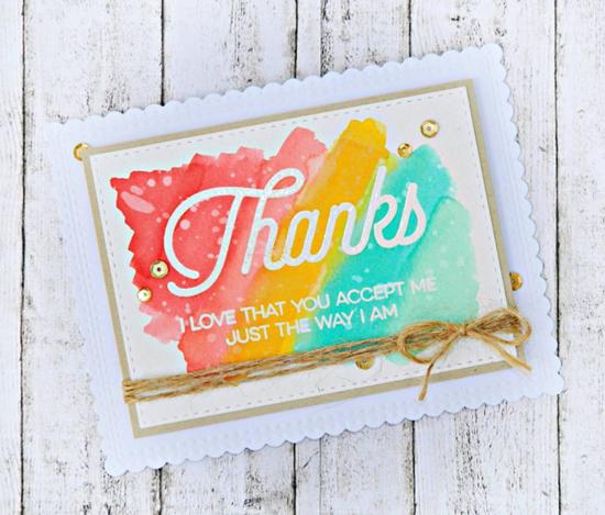 Kind Thanks stamp set  - Raluca Vezeteu #mftstamps