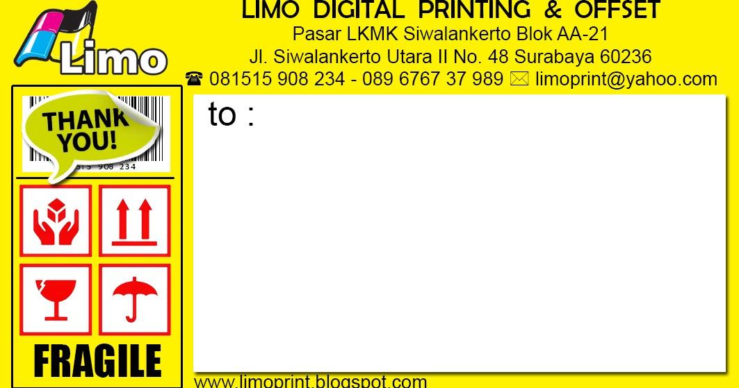 LIMO PRINT: STICKER PENGIRIMAN ONLINE SHOP