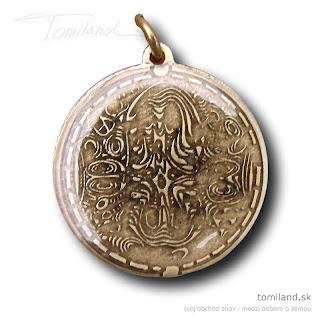 Austrálsky ochranný amulet.