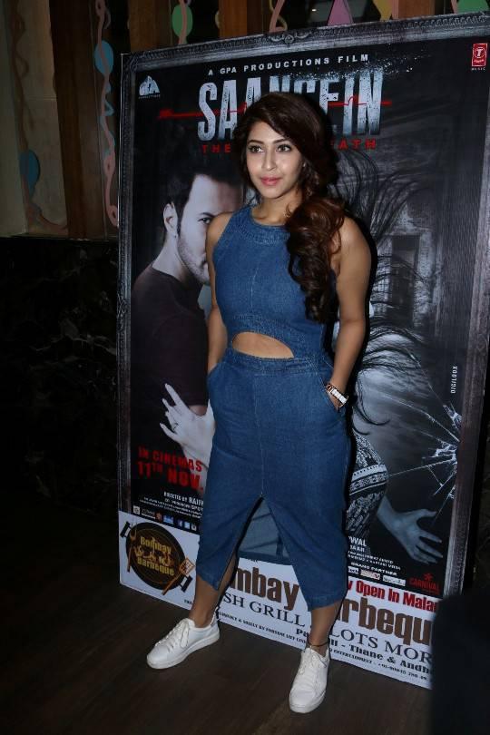 Tollywood Actress Sonarika Long Hair Legs In Blue Dress