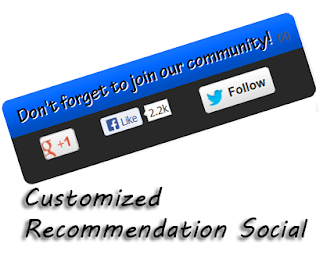 In this post service im gonna explicate how to add together customized recommendation popup box for blogger Customized Recommendation Social Widget for Blogger