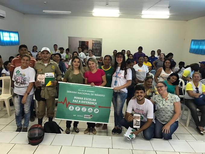 CHAPADINHA: SERVIDORES PARTICIPAM DE ATIVIDADE ALUSIVA A SEMANA NACIONAL DE TRÂNSITO