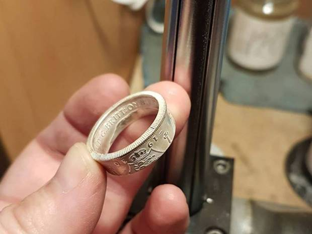 Rings from Coins Susanne Phillips from Wexford in Ireland