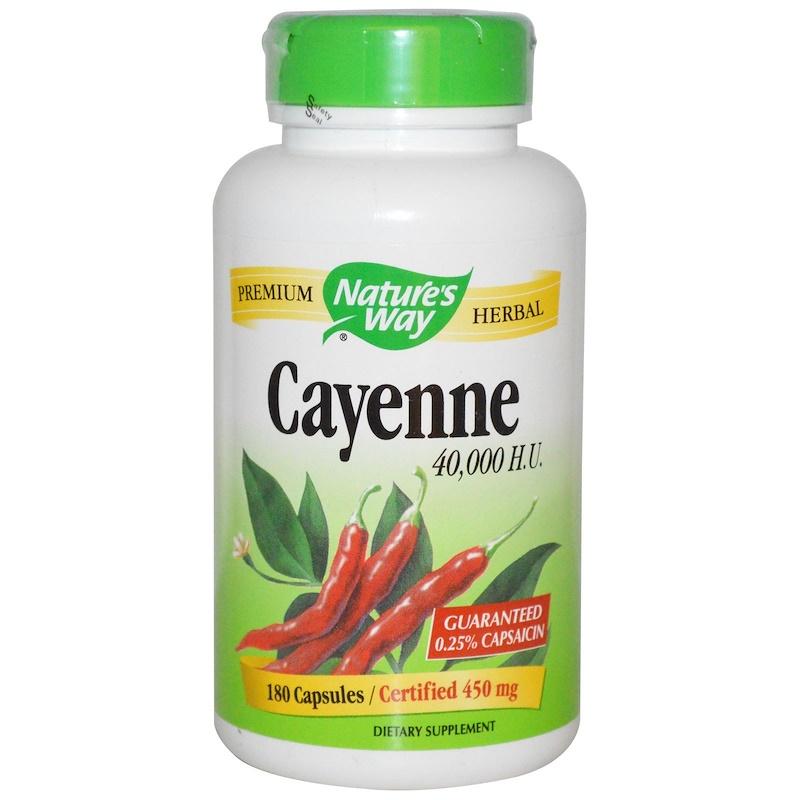 Nature's Way, Красный стручковый перец, 450 мг, 180 капсул
