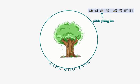 text melengkung dengan inkscape