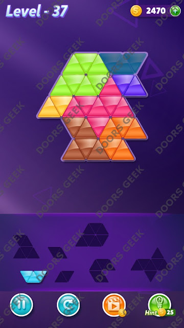 Block! Triangle Puzzle 7 Mania Level 37 Solution, Cheats, Walkthrough for Android, iPhone, iPad and iPod