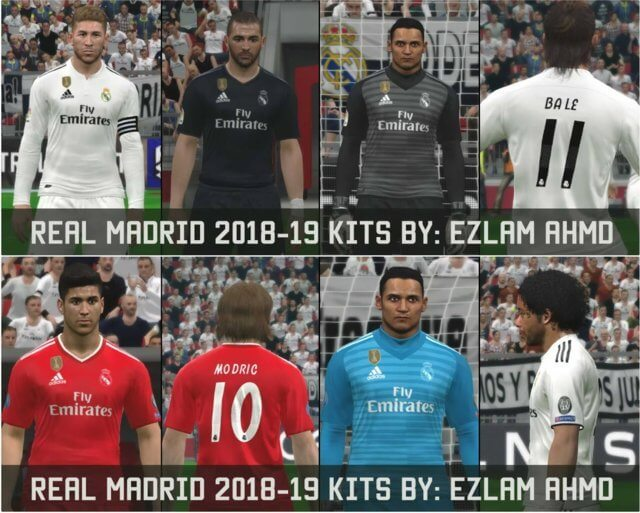 a16dfd101a2 Real Madrid 2018-2019 Full Kits - PES 2017 - PATCH PES