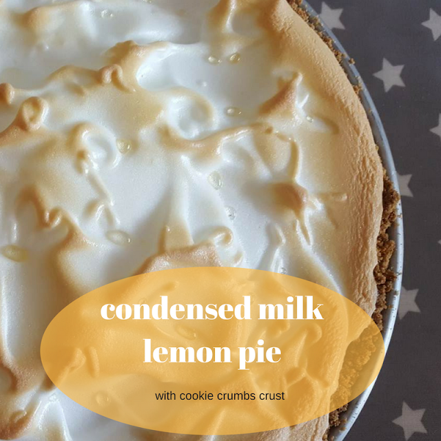 Condensed milk lemon pie
