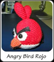 Angry bird rojo amigurumi