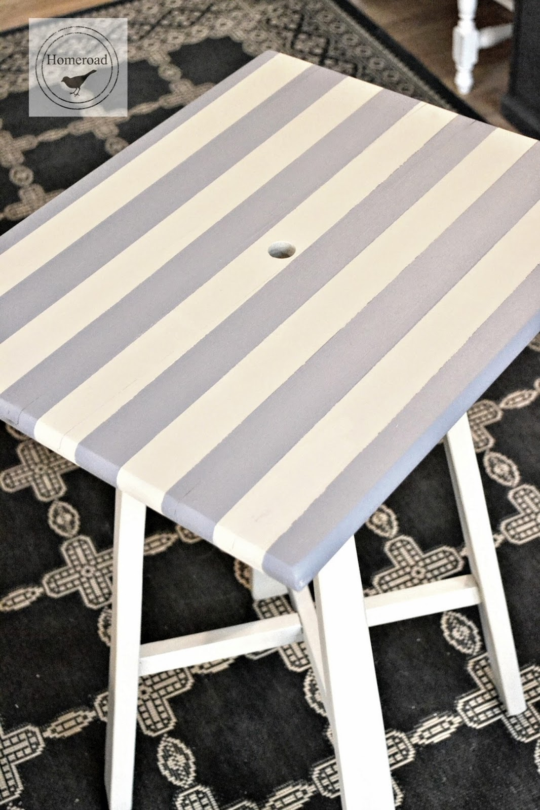 saving a small striped table with a hole www.homeroad.net