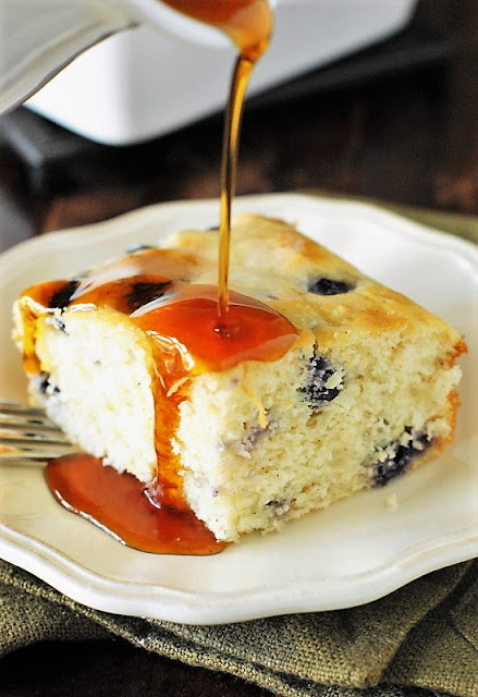 Fluffy Baked Blueberry Buttermilk Pancakes Image ~ done in the oven, no flipping required!
