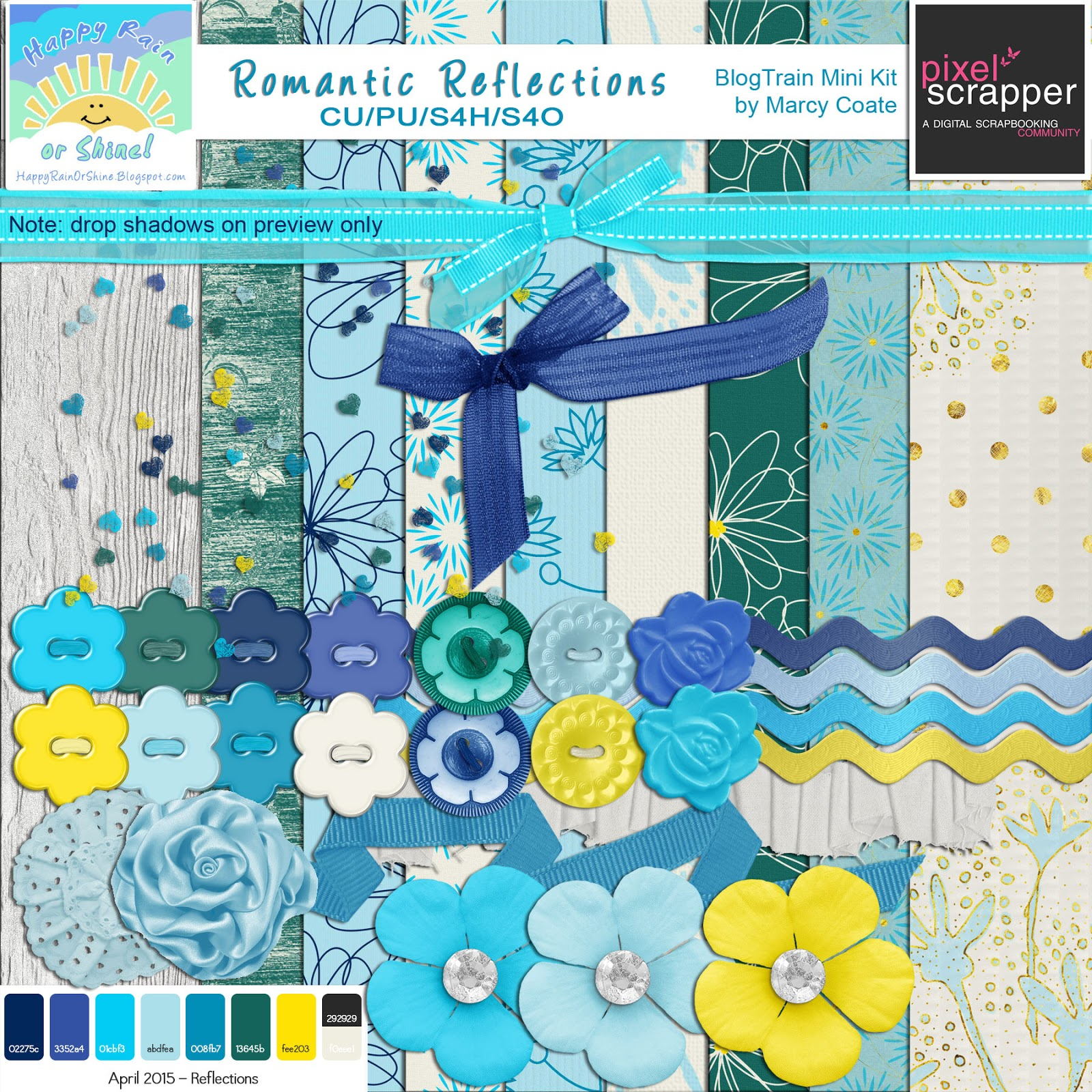 romantic reflections digiscrap freebie