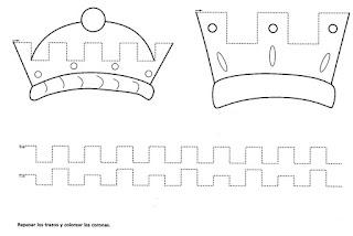coronas-grafomotricidad-reyes