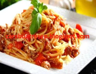 Foto Resep Spaghetti Ikan Teri Asin Sederhana Spesial Asli Enak