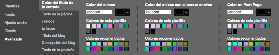 escoger color titulo