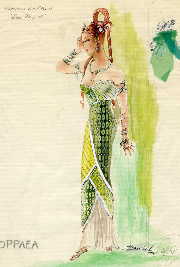PEPLUM TV: Costume sketches for QUO VADIS (1951) Patricia Laffan Interview