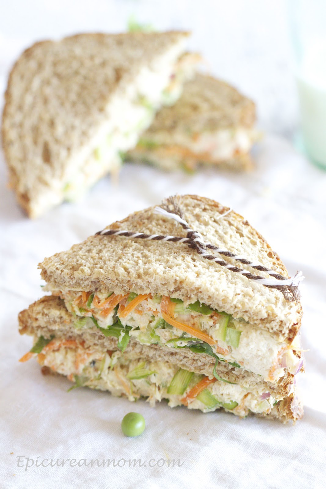 Epicurean Mom Healthy Chicken Salad Sandwich Recipe