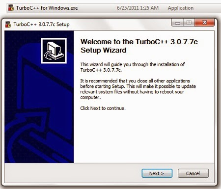 Download and Install Turbo C++ Compiler With Full Screen IDE for Windows 7 and Vista