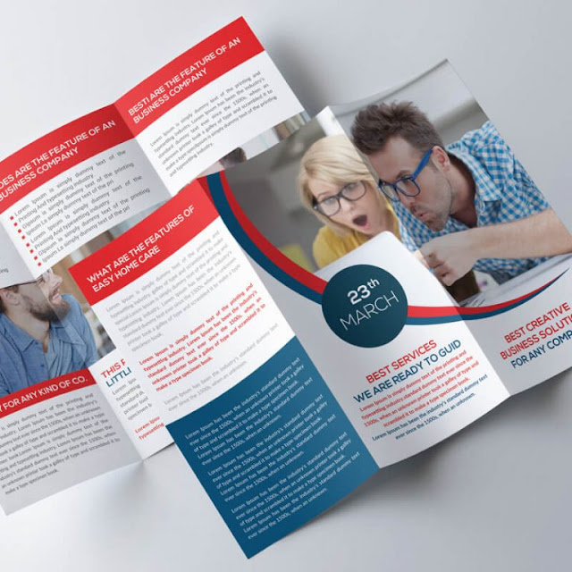 Free Trifold Brochure Psd Template Design