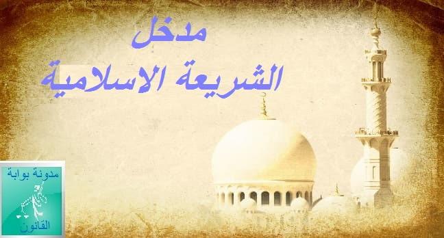 مدخل لدراسة الشريعة الاسلامية  PDF ( ملخص شاامل للتفوق في الاختبارات)