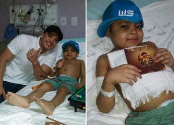 Garoto com leucemia morre após realizar sonho de conhecer o cantor Wesley Safadão