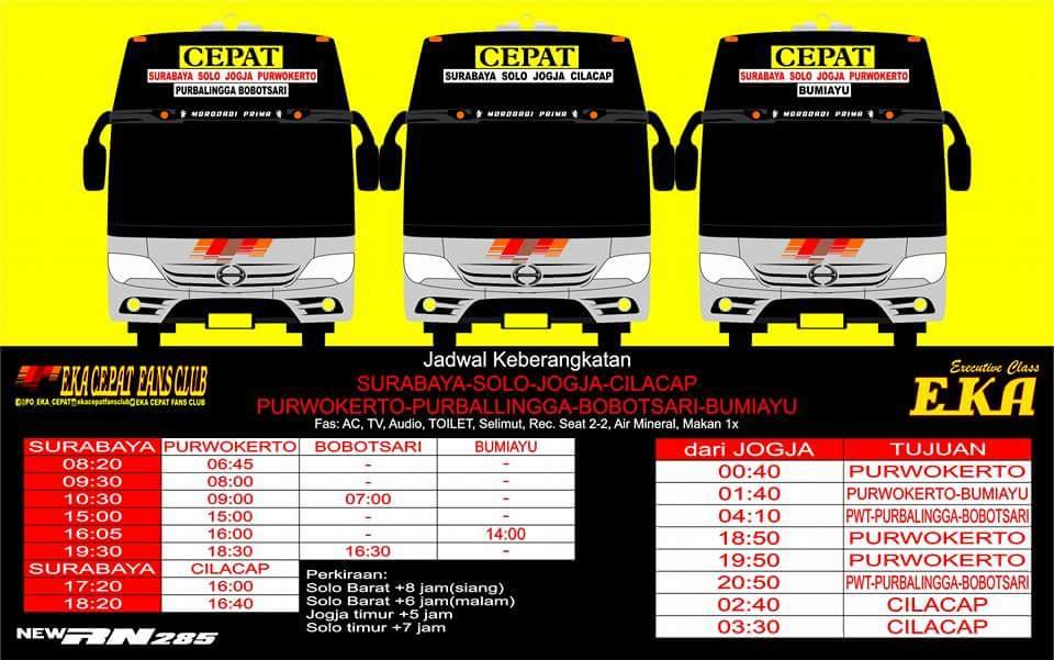 Harga Tiket Dan Jadwal Keberangkatan Bus Eka Tahun 2019